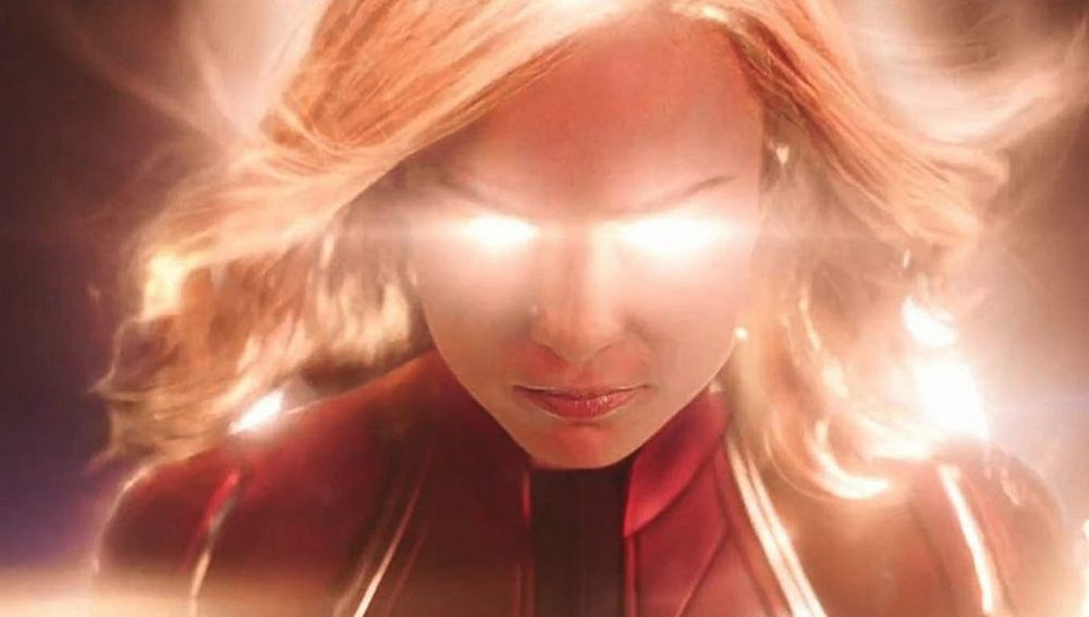 Brie Larson crashes into a Blockbuster in the first 'Captain Marvel' Trailer!